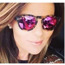 Óculos De Sol Feminino Retrô Espelhado Das Famosas Grife