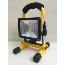 Refletor Led Recarregavel 30w C Bateria Portatil 24 Led
