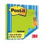 Bloco Adesivo Post-it® Refil Verde Neon Bloco Com 90 Folhas