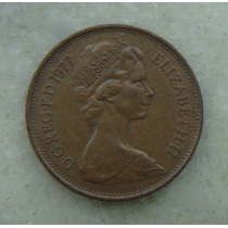 1464 Inglaterra 2 New Pence, 1977, Bronze, 26 Mm, Elizabeth