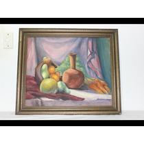 Antigo Oleo Sobre Eucatex, Pintura Assinada, 70 Cm X 62 Cm.