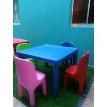 Conjunto De Mesa Com 2 Cadeiras Infntil. Rotoplas.