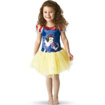 Fantasia Branca De Neve Infantil Bailarina Princesa Disney