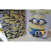 Caderno Minions 10 Materias Com Adesivos