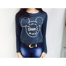 Moleton Estampa Disney Feminino