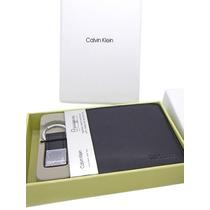 Carteira Masculina Em Couro Calvin Klein