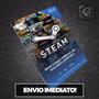 Steam Cartão Pré pago R$50 Reais Crédito Card   Imediato