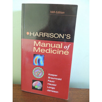 Livro Manual Of Medicine - Harrison`s - 16th Edition R$ 90