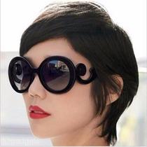 Óculos Feminino De Sol Fashion Vintage Preto Retro Uv 400