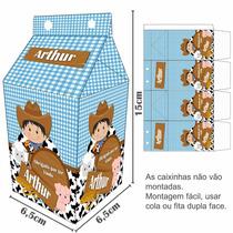25 Caixinha Surpresa Caixa Leite (milk) Personalizadas