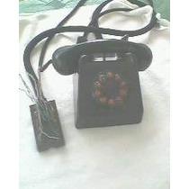 Antigo Telefone De Mesa Preto Para Ramal