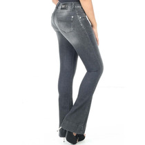 Calça Jeans Sawary Flare Levanta Bumbum Com Elastano
