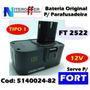 Bateria Original P/parafusad Ft 2522 12v Fort/black&decker