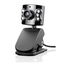 Webcam Com Leds Microfone Visão Noturna De Ótima Qualidade