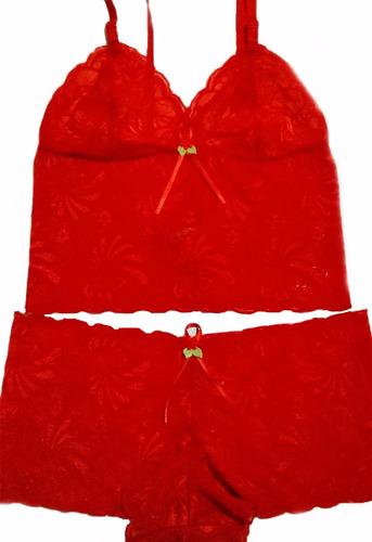 09fc4ff37 Baby Doll Short Dollll Kit C 15 Un Conjunto Em Renda Atacado