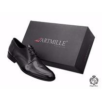 Sapato Social 100% Couro Sola Couro Artmille Premium 12x