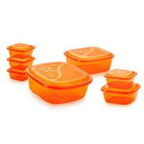 Conjunto De Potes(tapoer) Quadrado - 07 Peças