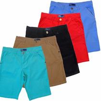 Bermudas Sarja Masculina 5 Bolsos Kit Com 5 Und Frete Grátis
