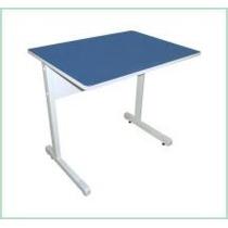 Mesa Reta Azul ,cinza Ou Bege Computador Ou Estudo