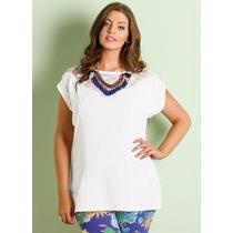 Blusa Branca Plus Size - Roupa Tamanhos Grandes G Gg Xxg Xlg
