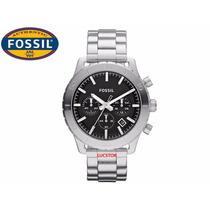 Relógio Fossil Keaton Cronografo Original Fch2814z Aço