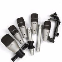 Samson 7 Kit De Microfone Bateria 7kit Conjunto Microfones !