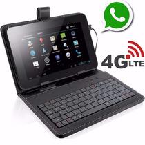 Tablet Função Celular 2 Chips Internet 4g + Capa C/ Teclado