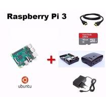 Kit Novo Raspberry Pi 3 Pi3 Completo+fonte+sd16+case+sistema