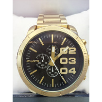 Relógio Masculino Original Atlantis Dourado(pronta Entrega )