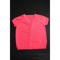 Blusa * Cardigan Coral Para Bebê Menina - Tam 12-18 Meses