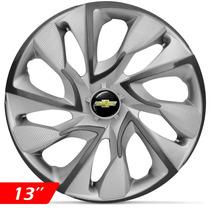Calota Jogo Aro 13 Ds4 Silver Corsa Celta Prisma Onix Meriva