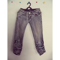 Calca Social Feminina Jeans Capri Cód. 90