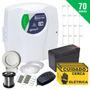 Kit Cerca Elétrica E Alarme Com Bateria P/ 70 Metros +brinde