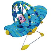 Cadeira Descanso Bebê Musical Vibratória Móbile Reclinável