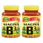 Kit Com 2 Vitamina B3 Niacina 60 Cápsulas 500mg Unilife