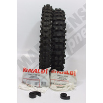 Kit Pneu 100/90-17 + 90/90-19 Rinaldi Bros Trilha Cross Mp73