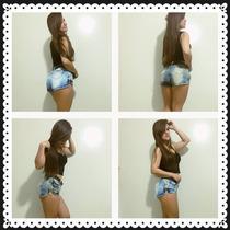 Short Feminino Jeans Marca Valentin Com Cinto Lojas Bh