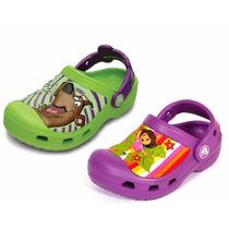 Promoção!sandálias Crocs Da Dora E Scooby Doo Originais!