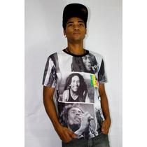 Camiseta Portraits Bob Marley