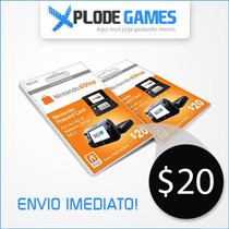 Cartão Nintendo 3ds Shop / Eshop Cash Card - $20 - Wiiu