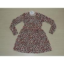 Vestido Infantil Inverno Manga Longa Brandili Tamanho: 08