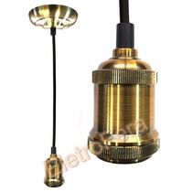 Luminaria Pendente Retro Latão Ideal Lampada Retro Vintage