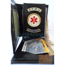 Porta Cheques Cédulas Notas Socorrista Ambulância Samu C82p