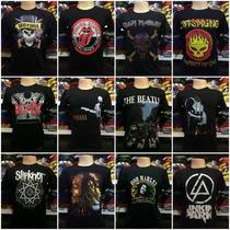 Lote Com 25 Camisetas Banda De Rock Atacado