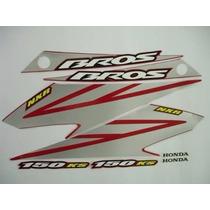 Kit Adesivos Honda Nxr 150 Bros Esd 2008 Vermelha