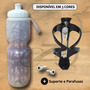 Kit Suporte+garrafinhatérmica/caramanhola/bike 650ml Squeeze