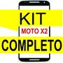 Vidro Moto X2 Xt1097/98 Preto+ Kit Remoção+ Cola Uv + Ferram