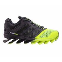 Tênis Adidas Springblade Drive 2015 Preto E Verde Limão
