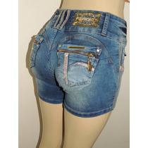 Shorts Afront Jeans Estilo Pitbull Levanta Bumbum