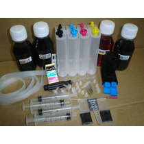 Bulk Ink Hp C/ Antirefluxo + 400 Ml Tintas - Frete Grátis